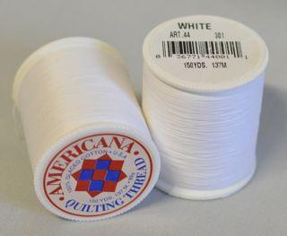Americana Hand Quilting Thread - White - PennyLane ... : thread for hand quilting - Adamdwight.com